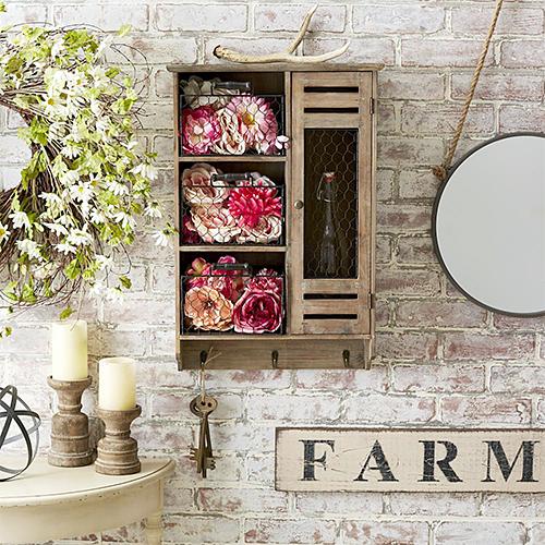 Farmhouse-themed entryway
