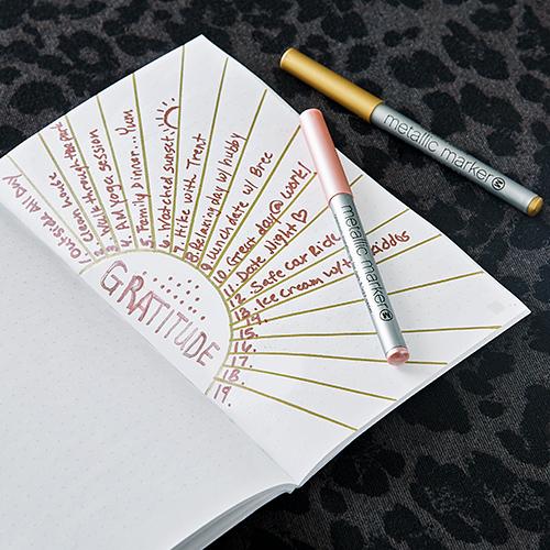Gratitude journal example