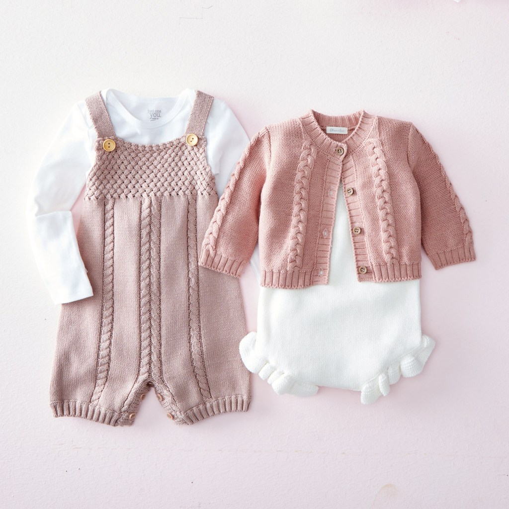 Baby girl outfit inspiration - knit dusty rose sets