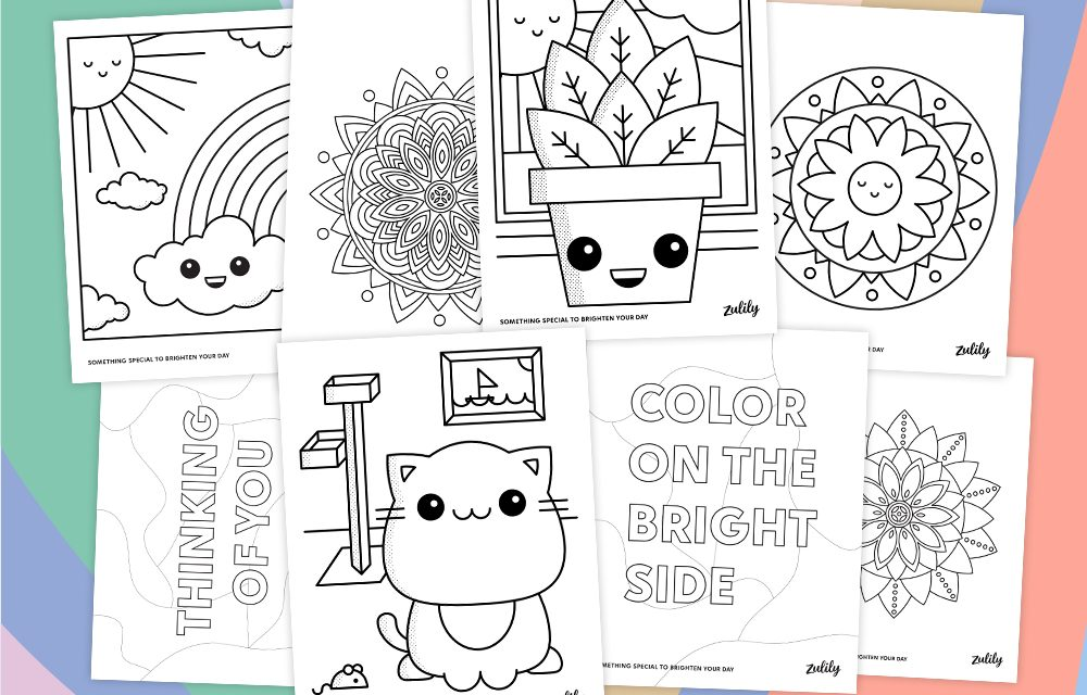 Six Reasons to Color Plus Free Coloring Pages