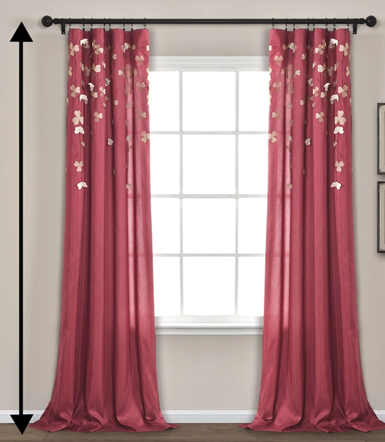 puddle-length curtains