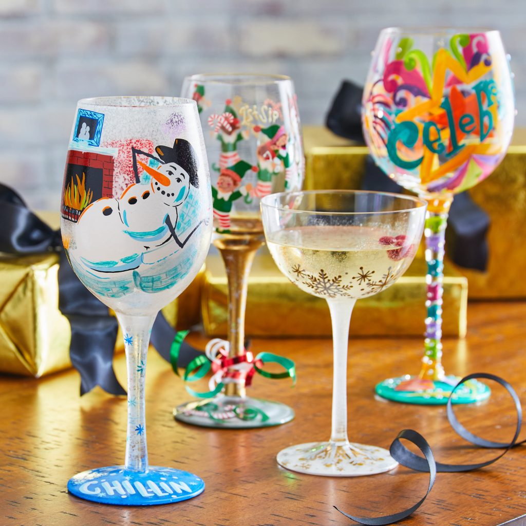 novelty wine glasses for book gifts