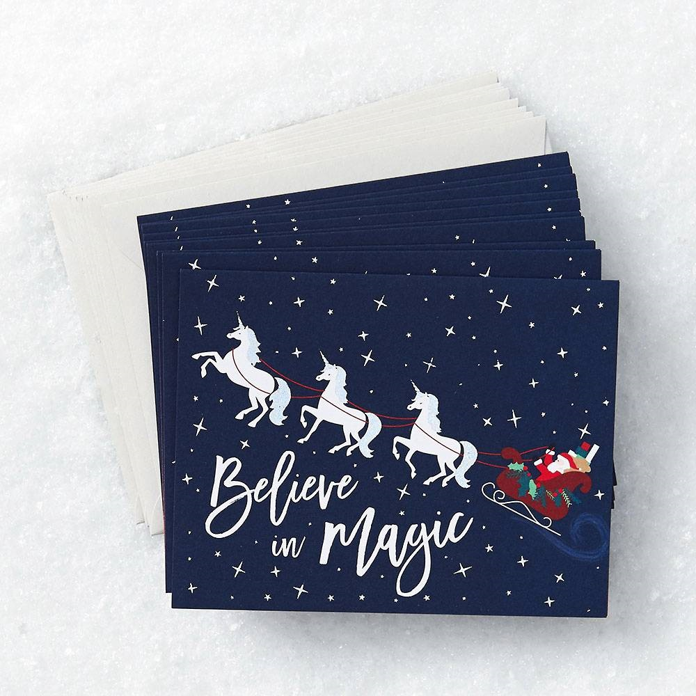 believe in magic holiday card