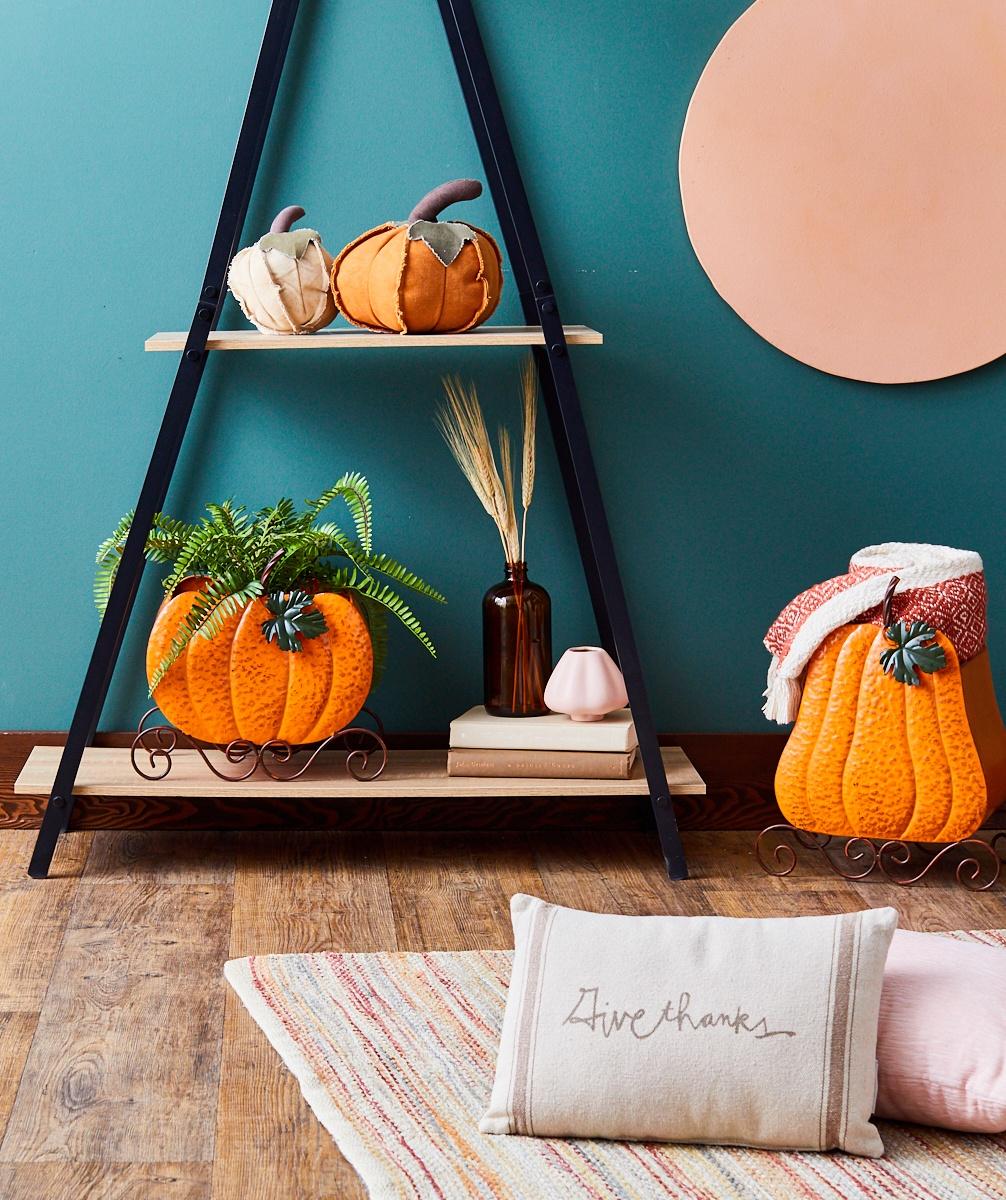 Fall-themed decor