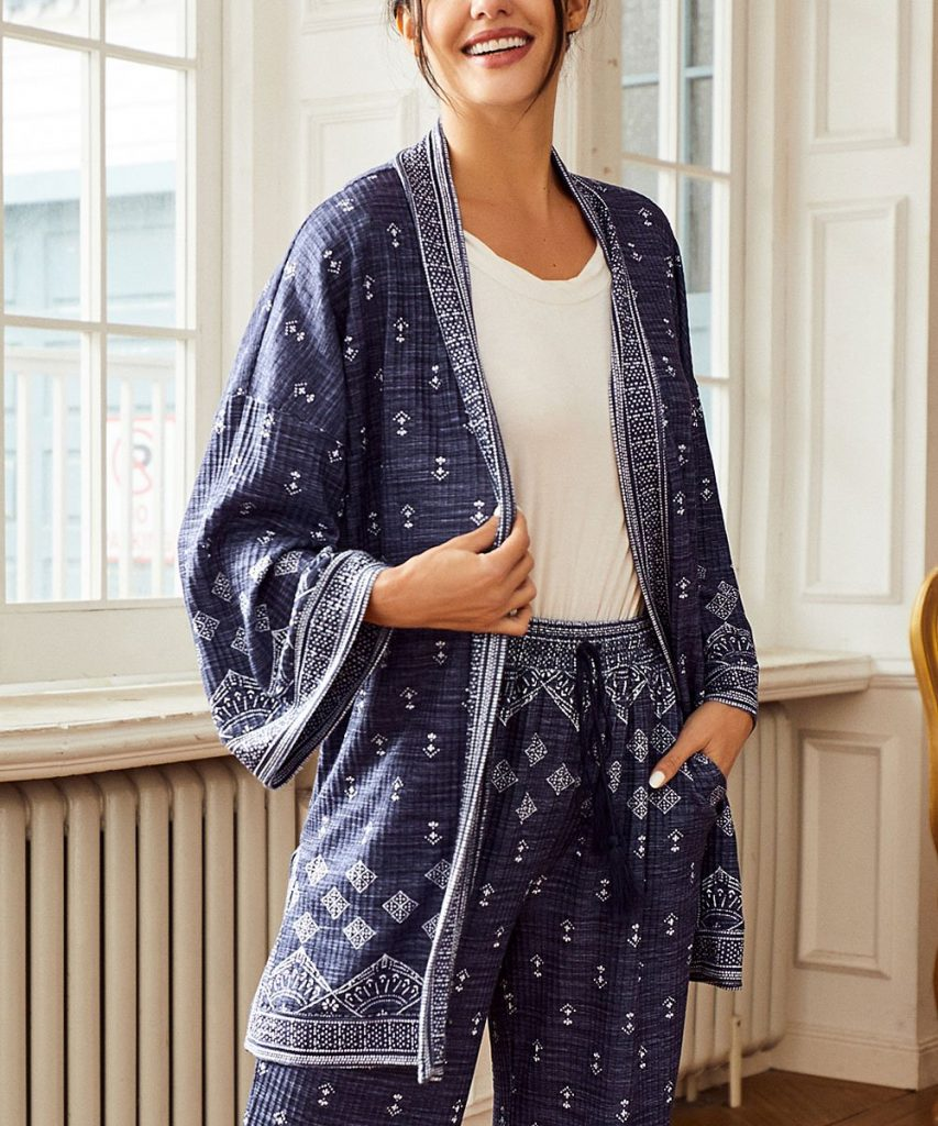 Simple by Suzanne Betro Cardigan Lounge Set