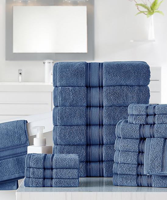 Spirit Linen Home Blue Towel Set