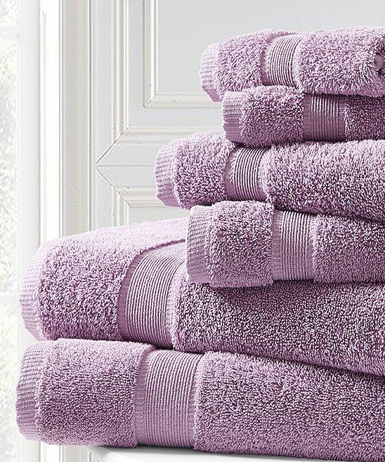 Spirit Linen Home Nirvana Purple Towel Set