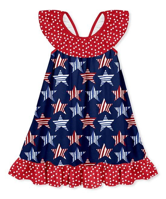 Millie Loves Lily Star Ruffle Dress