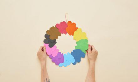 DIY Craft: Rainbow Paper Heart Wreath