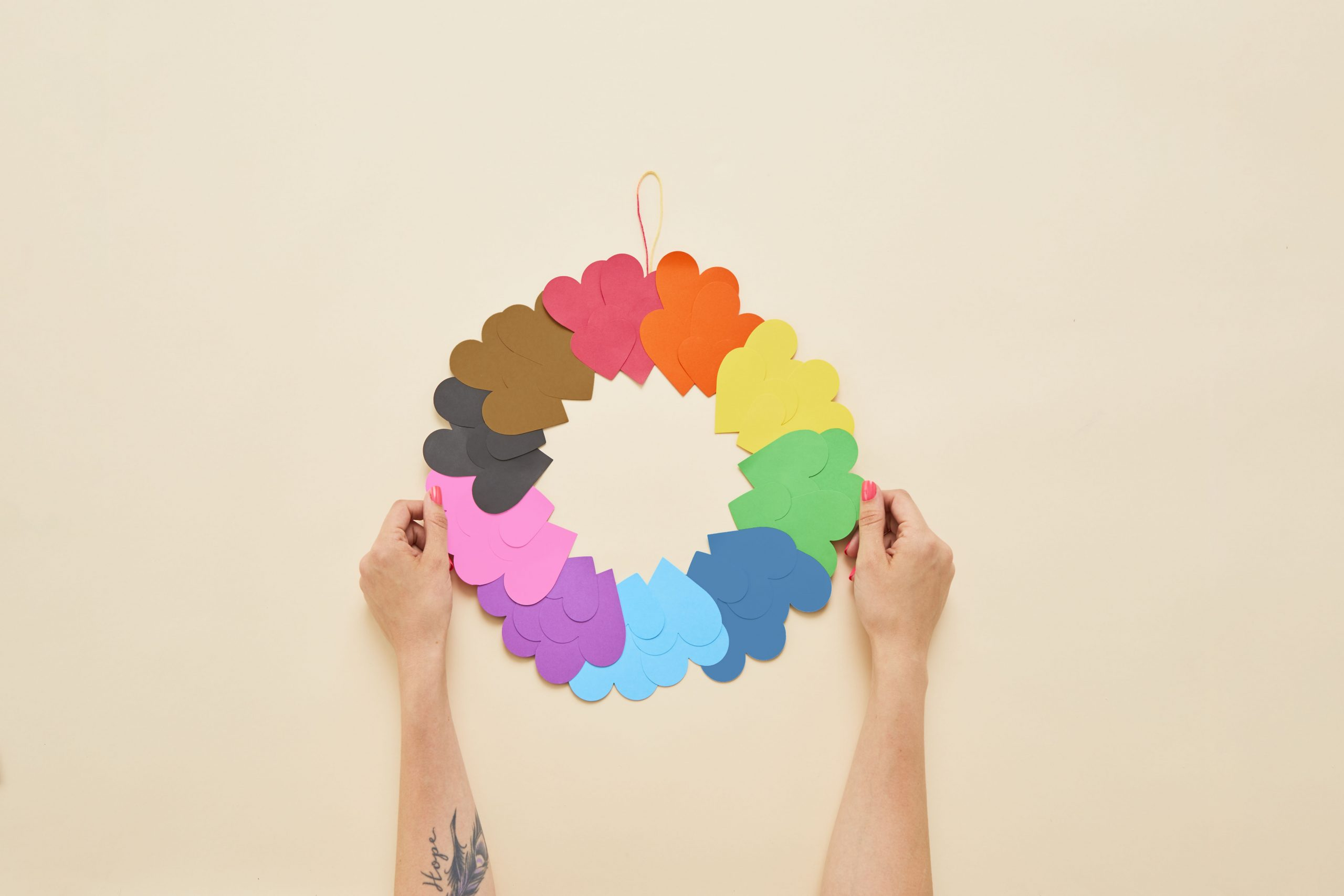DIY Rainbow Heart Paper Craft Project for Pride