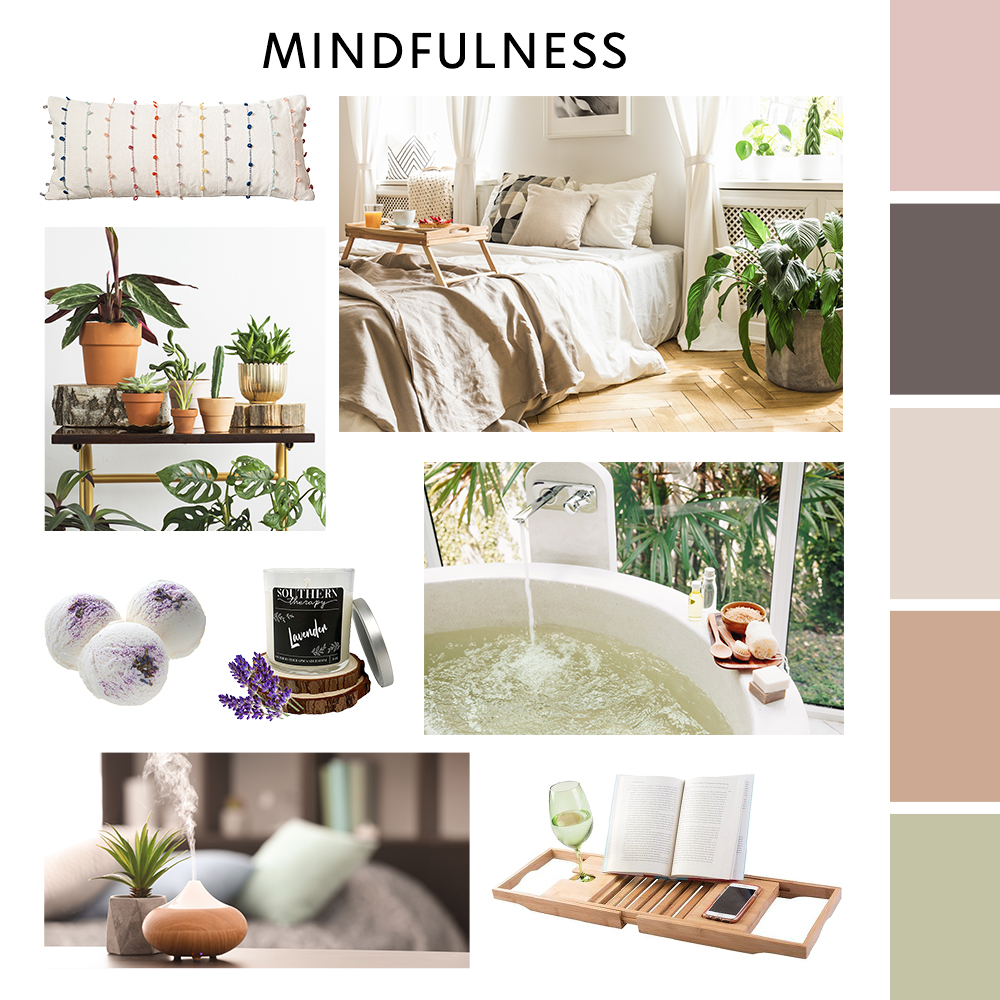 Mindfulness Moodboard | Zulily Home Index