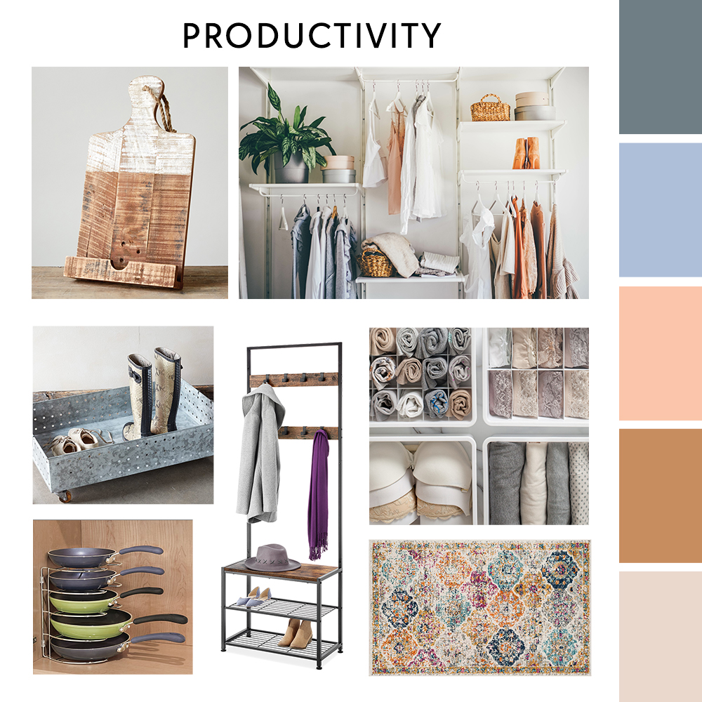 Productivity Moodboard | Zulily Home Index