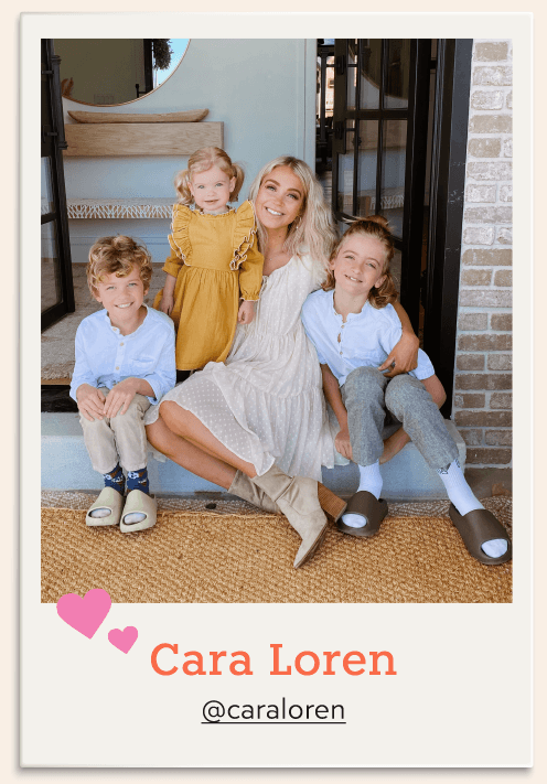 Mommy blogger Cara Loren and her three kids