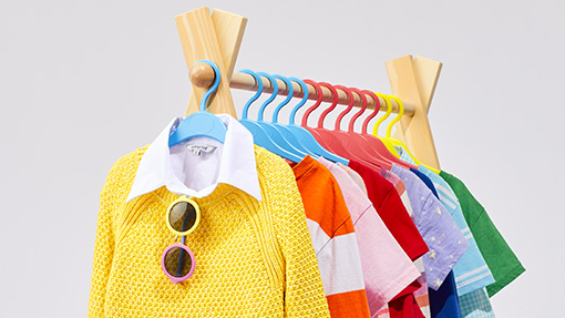 Back to School Outfits on a clothing rack