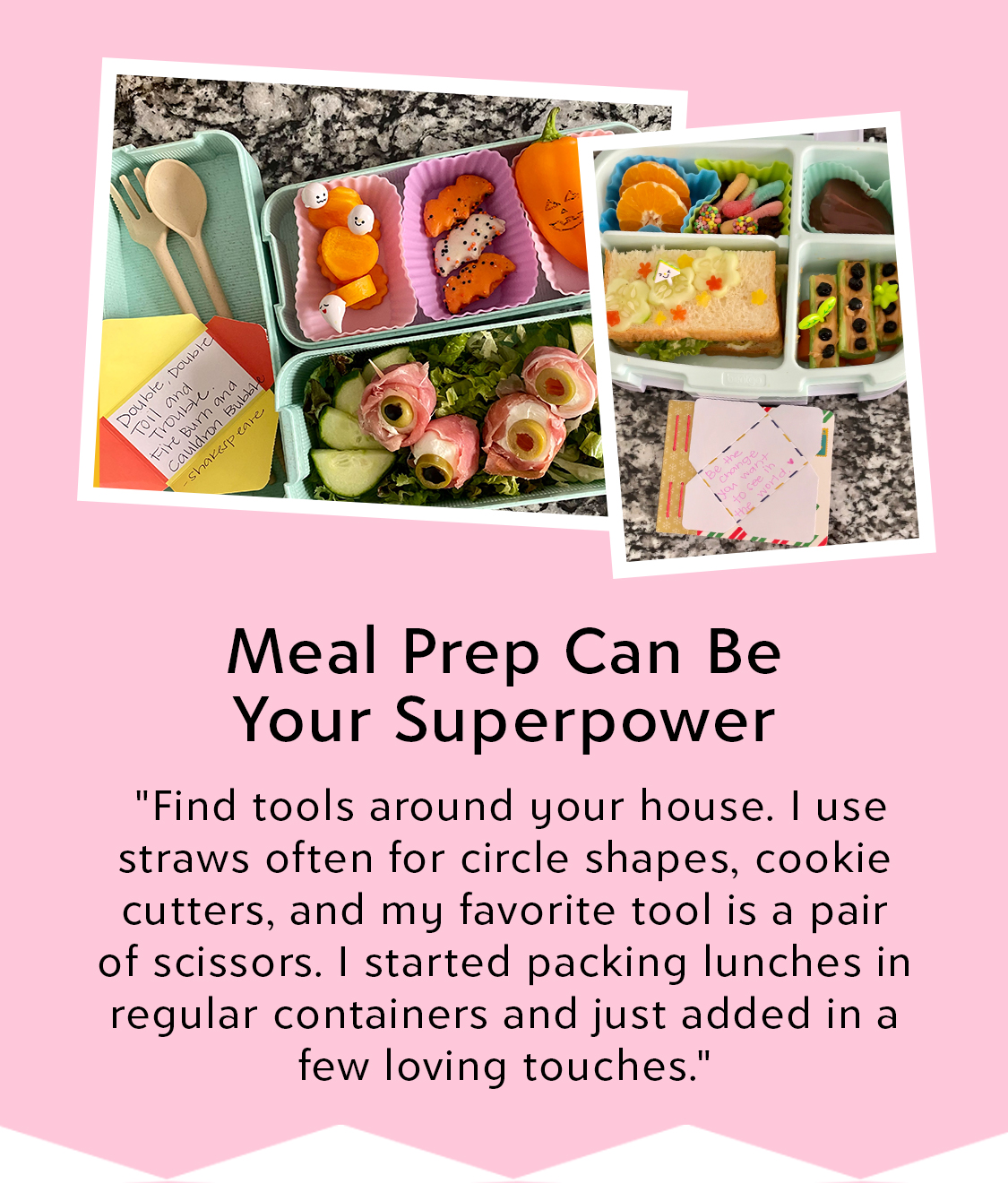Jessica Woo Bento Box Meal Prep for Zulily