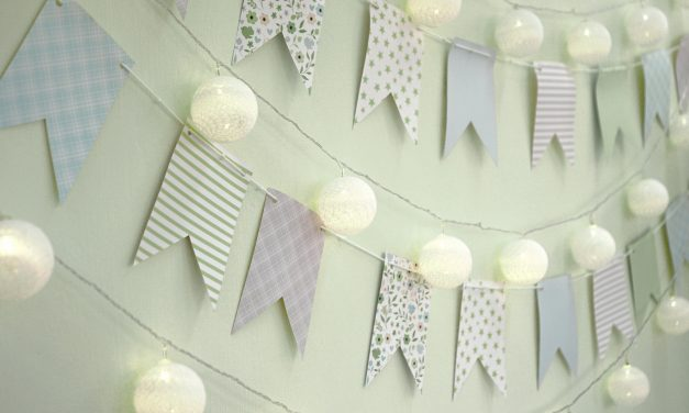 Easy No-Sew Fabric Wall Hanging For Your Baby's Nursery