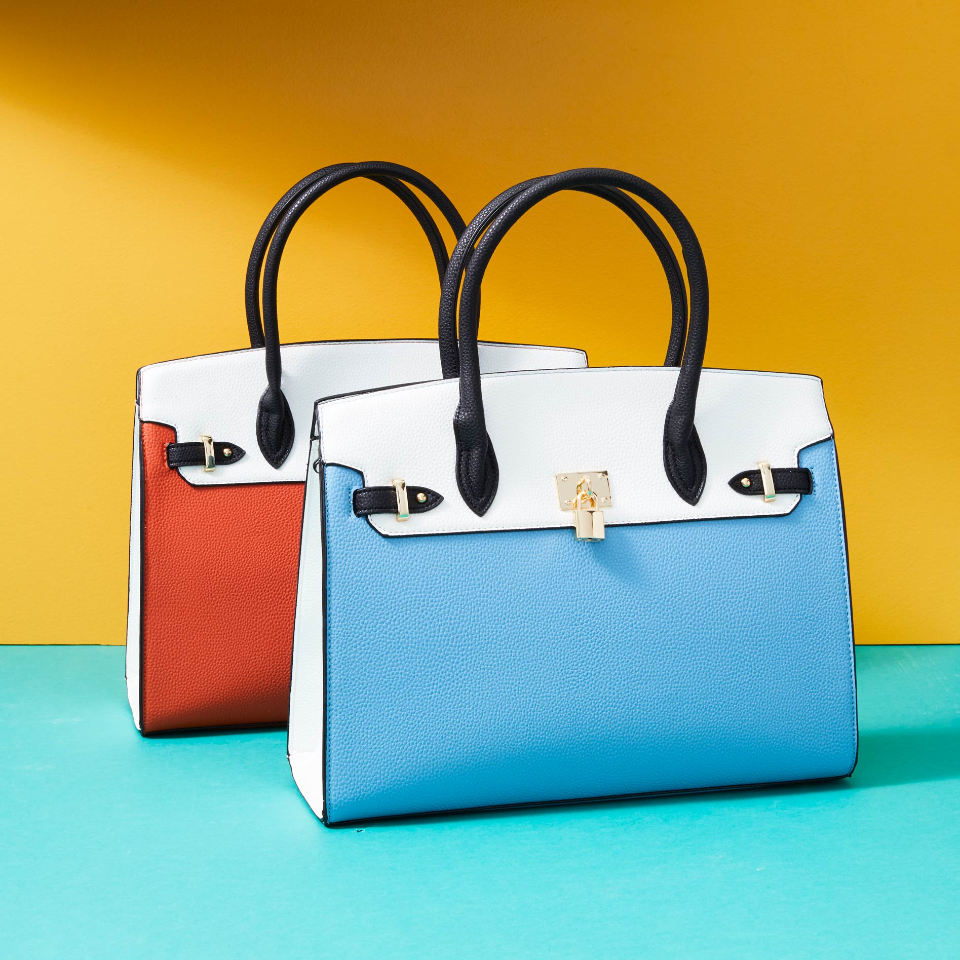 MKF Collection by Mia K. Color Block Annya 2-in-1 Satchel