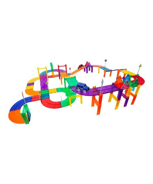 PicassoTiles Race Track 81-Piece Magnetic Building Blocks