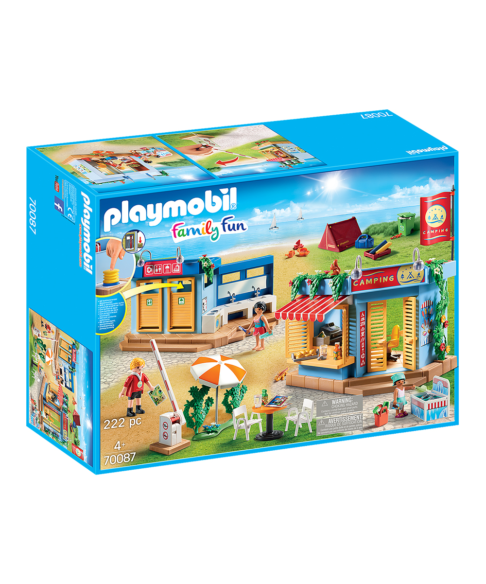 PLAYMOBIL Large Campground Toy Set