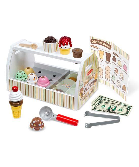 Melissa & Doug Scoop & Serve Ice Cream Counter Play Set