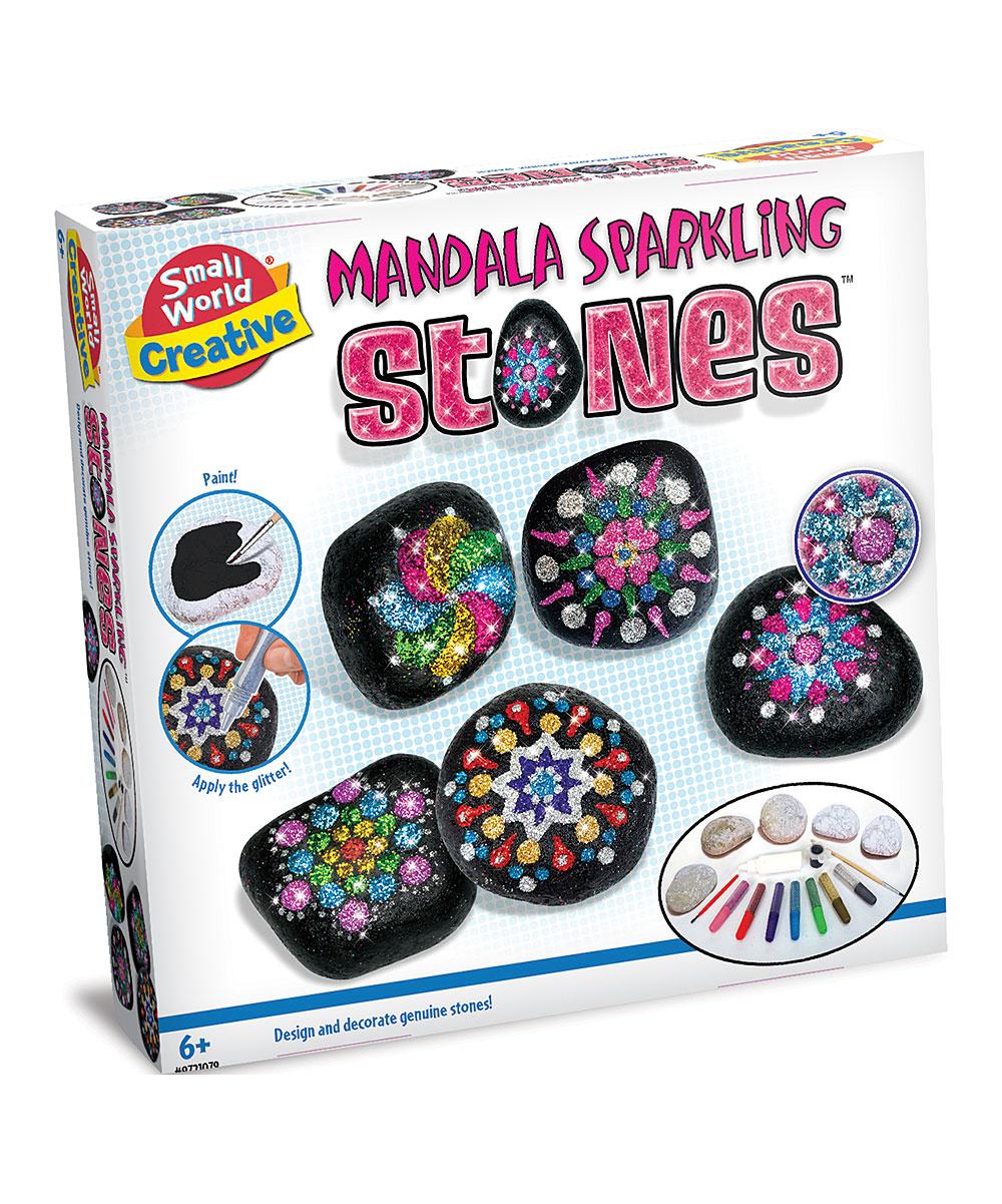 Small World Toys Mandala Sparkling Stones Paint Set