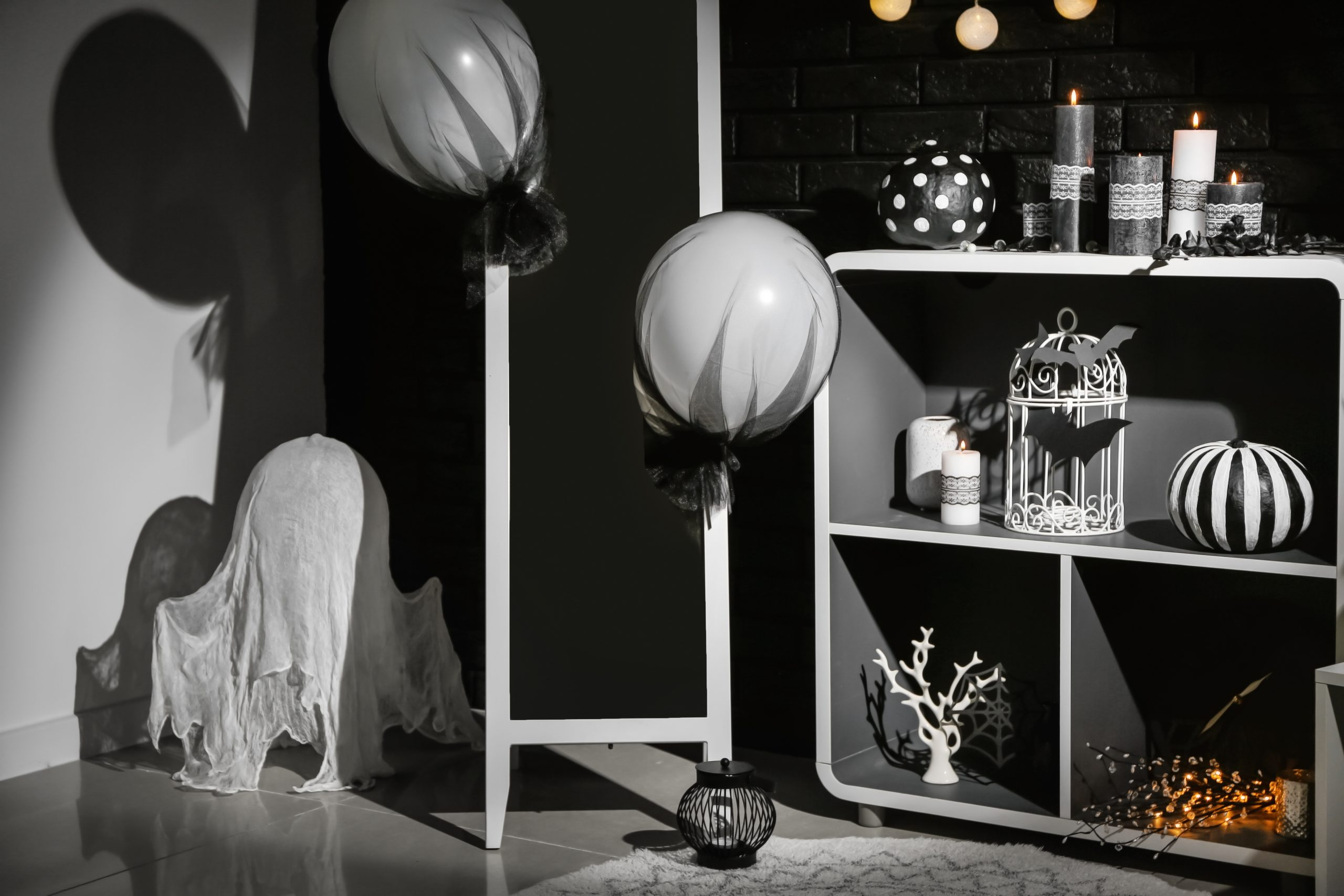 Black and Silver Halloween Decorations